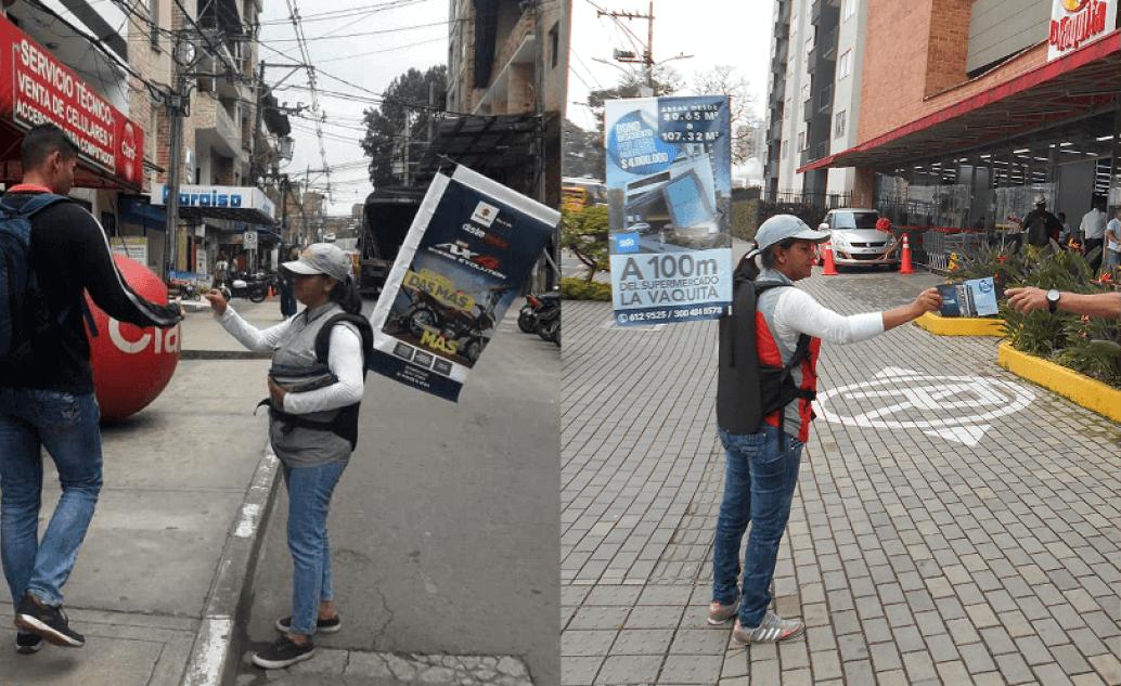 pendones publicitarios y pasacalles en Colombia
