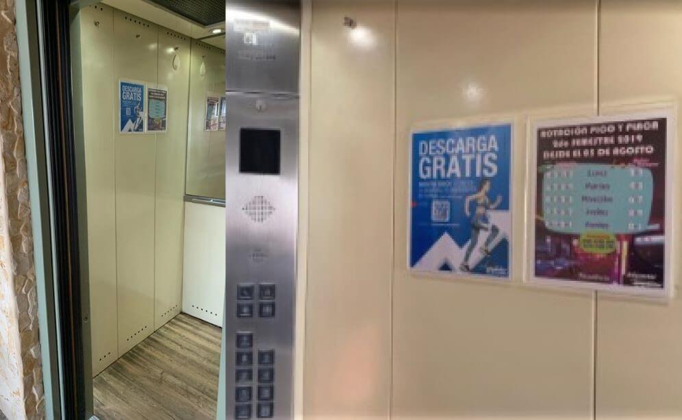 Servicio publicitario en ascensores